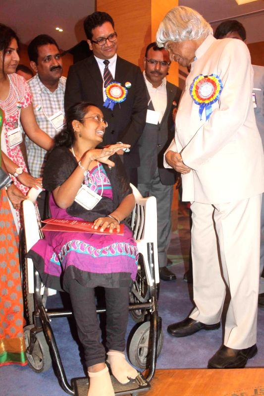 Former President of India APJ Abdul Kalam during a national conference on `Raising The Awareness On Rare Diseases`in Hyderabad on March 20, 2015.