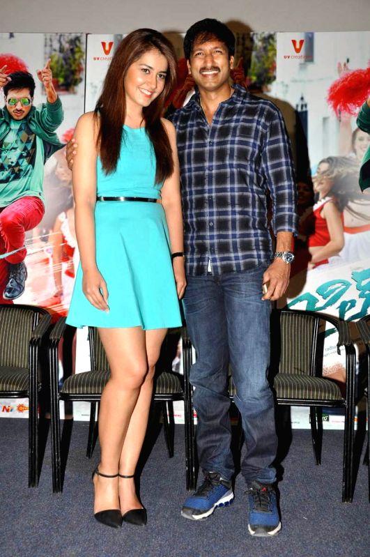 Gopichands Jil movie trailer launch held at Prasad Labs in Hyderabad.