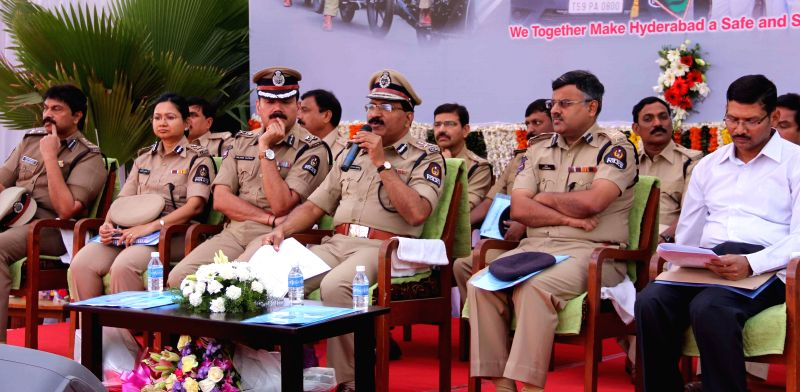 Hyderabad Commissioner of Police Mahendar Reddy addresses a press conference in Hyderabad on Dec. 27, 2014.
