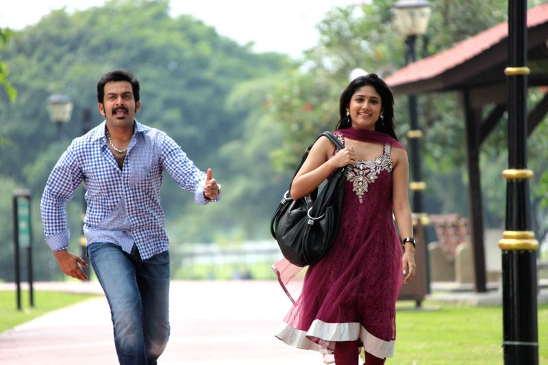 Hyderabad: Stills from Telugu film `Teja Bhai`.