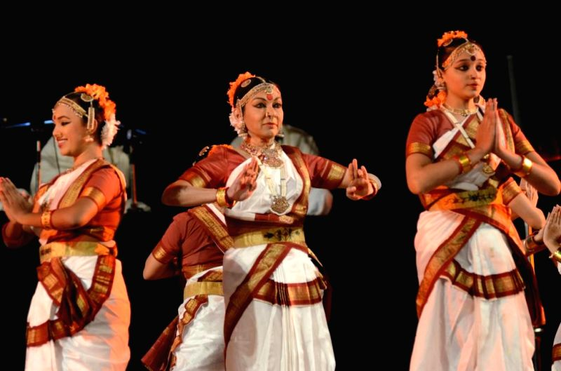 Indian classical dancer Mallika Sarabhai and her troupe preform Sampradayam Bharatnatyam during the five-day long Krishnakriti festival in Hyderabad, on Jan 8, 2015.
