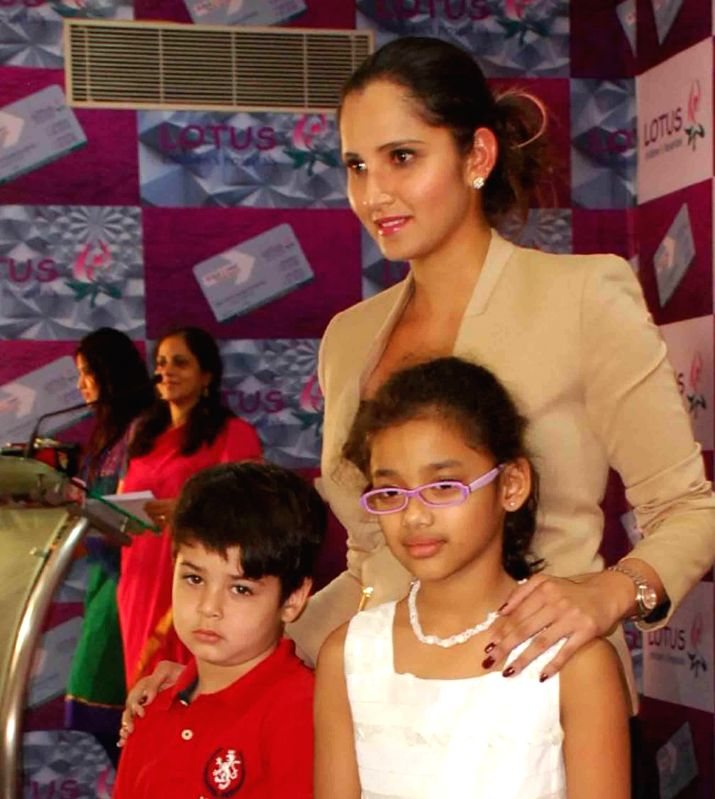 Indian tennis player Sania Mirza during a programme in Hyderabad, on Nov 22, 2014.