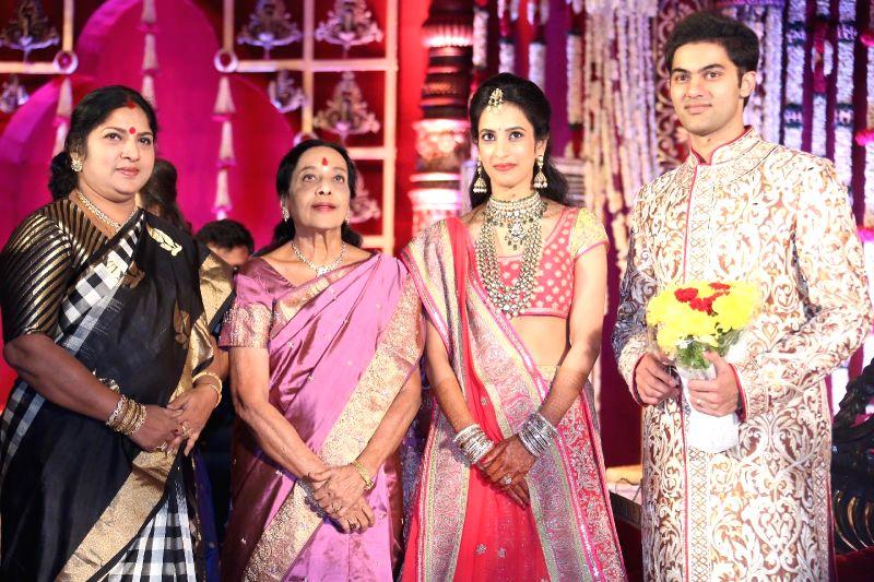 Jamuna during Subbarami Reddy`s grand Son Rajiv marriage.