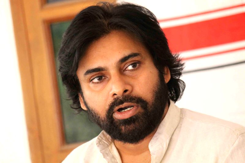 Jana Sena chief and actor Pawan Kalyan addresses a press conference in Hyderabad, on March 6, 2015.