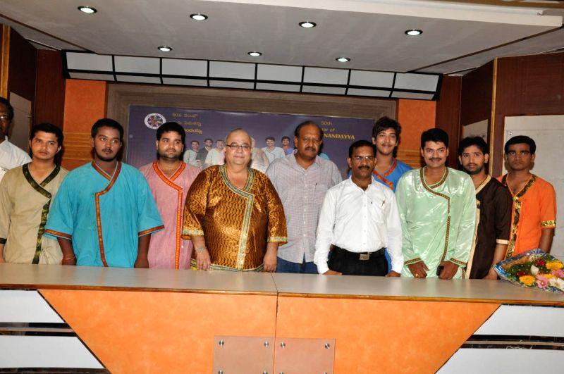 Kaliyuga Paramanandiah Press meet in Hyderabad.
