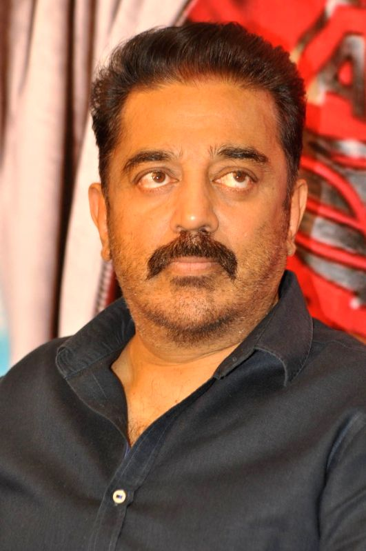 Kamal Hassan acted Telugu film `Uttama Villain` Press meet at Part Hyatt Hotel in Hyderabad. - Kamal Hassan