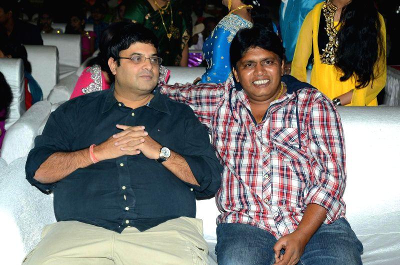 Krushnudu, Raghu attended comedian Ali borther Khayyym`s marriage reception at Sandhya Convention Centre at Gachibowli in Hyderabad.