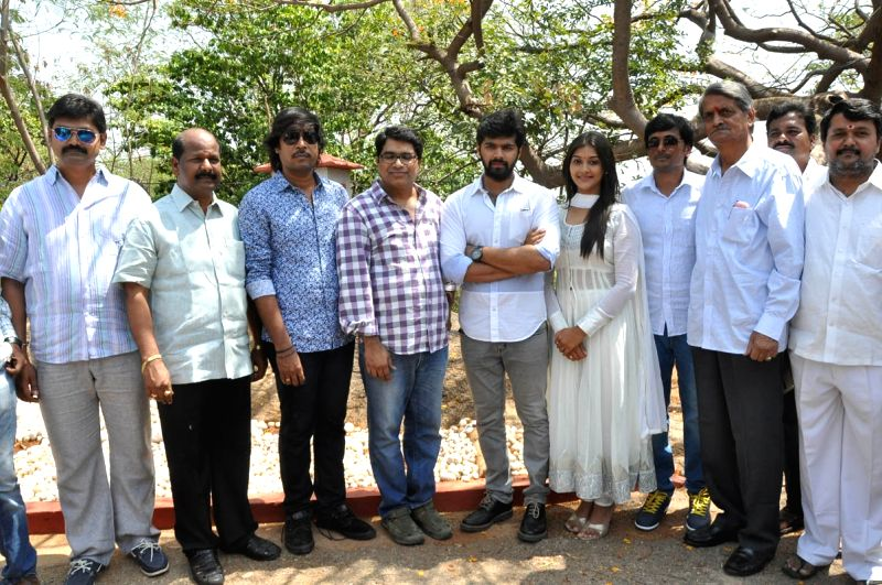 Launch of film L7 in Hyderabad on 29 May, 2015.