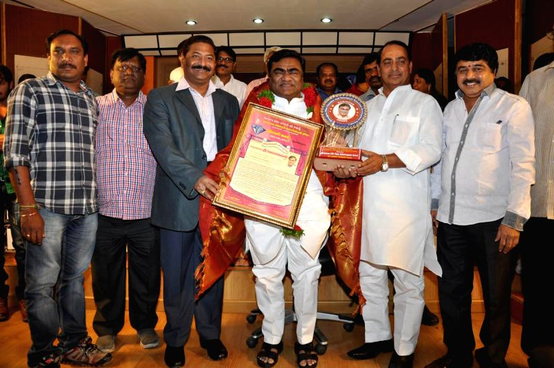 Life time achive ment to Babu Mohan during Kohinoor awards and Life time achivement awards on Thursday 5th Feb evening at Film Producers Hall, Film Nagar in Hyderabad.
