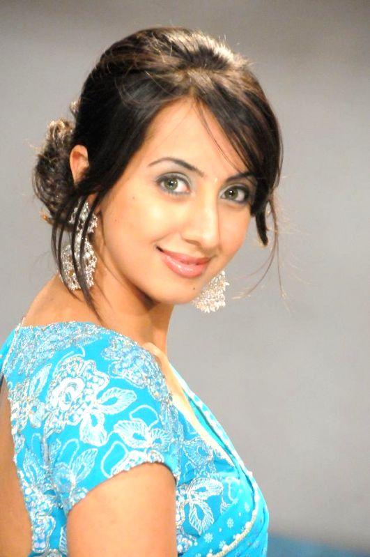 Hyderabad: Model Sanjjanaa Galrani. (File Photo: IANS)