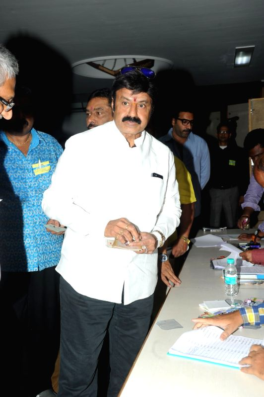 Movie Artists Association (MAA) elections taking place in Hyderabad today (29th March) .