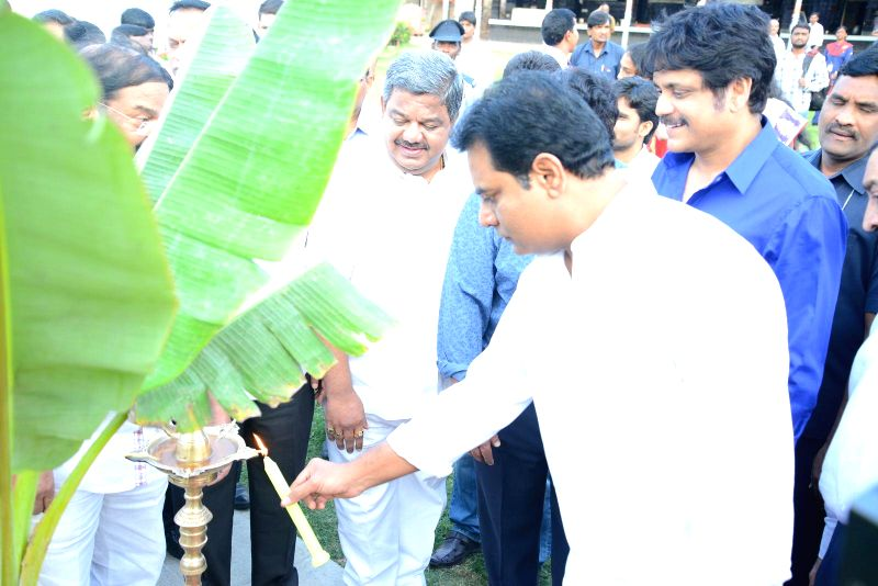 Nagarjuna,KTR launches Shooting center &  ANR Gardens at FNCC.
