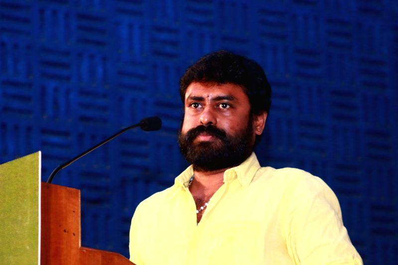 Press meet of film `Kaaval`.