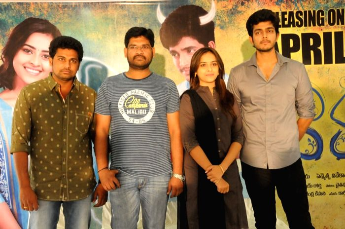 Press meet of Telugu movie Varadhi in Hyderabad on 12 April, 2015.