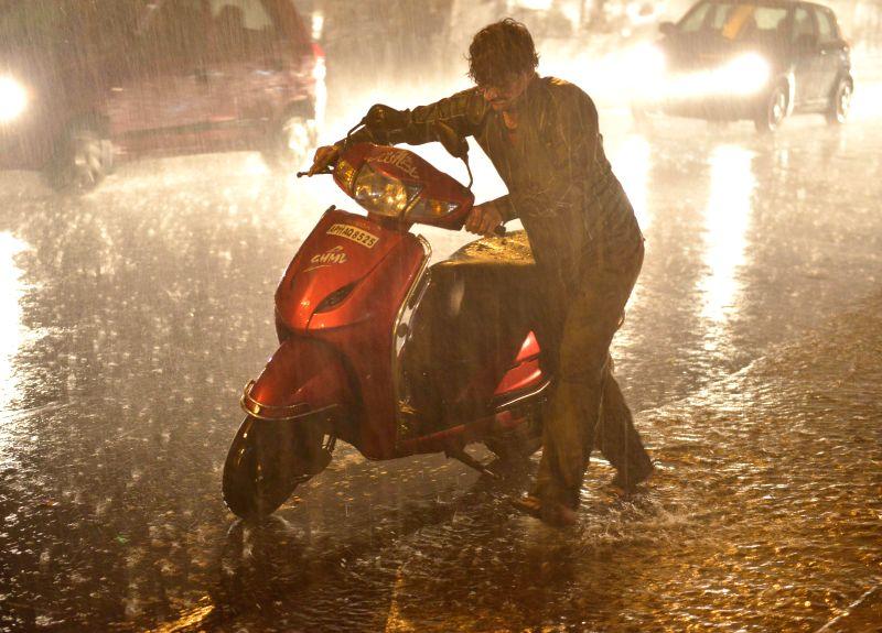 Rains in Hyderabad on Nov 12, 2014.