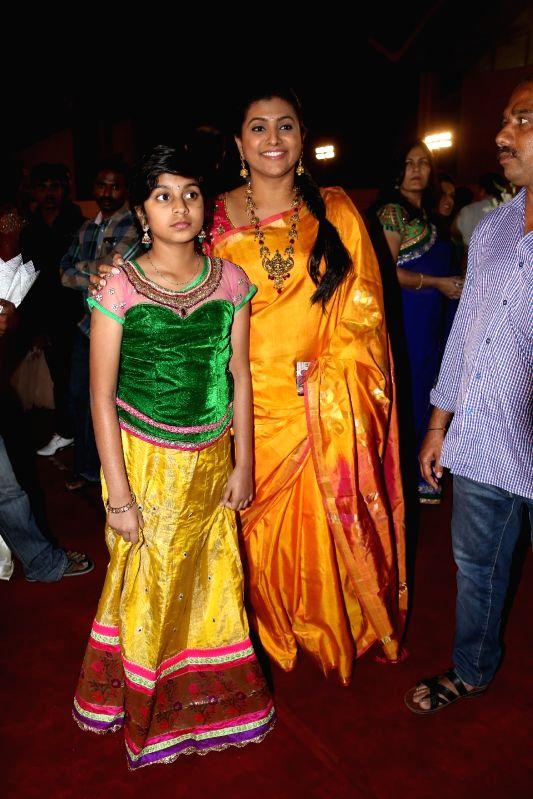 Roja during Subbarami Reddy`s grand Son Rajiv marriage.