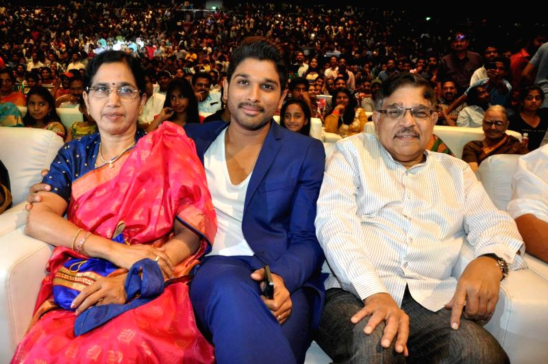 S/o Satya Murthy audio launch held at Novatel Hotel in Hyderabad on Sunday (16th March) evening.