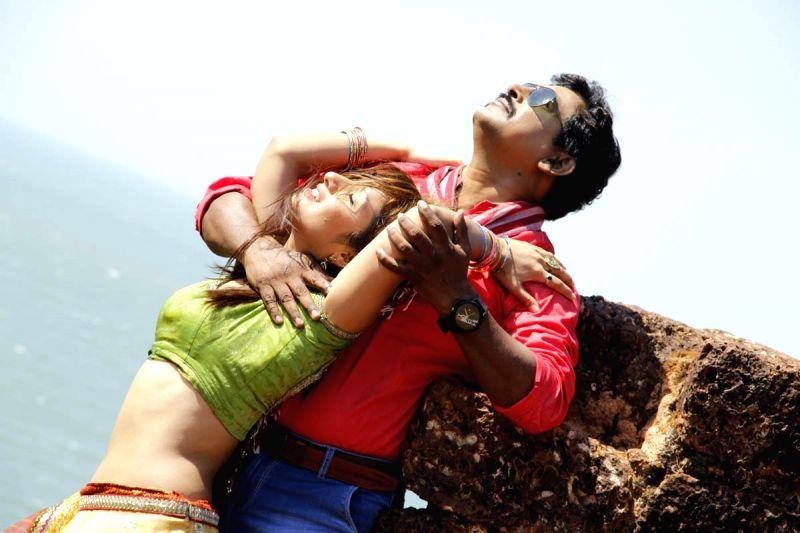 Stills from Telugu film `Box`.
