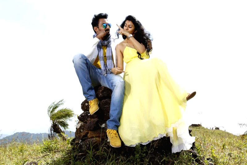 Stills from Telugu film `Chandrika`.
