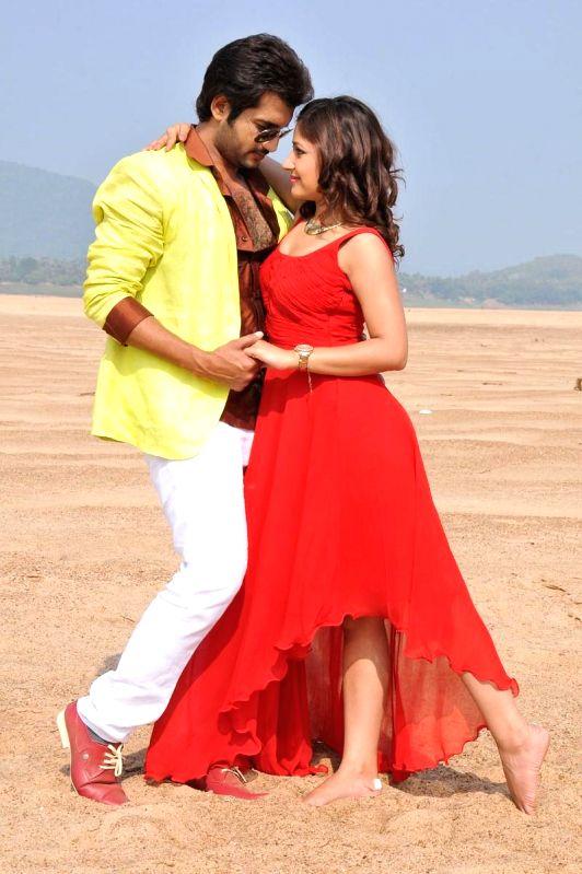 Stills from Telugu film `Intelijent Idiats`.