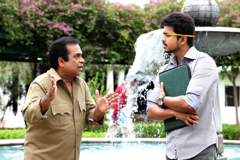 Stills from Telugu film `Jilla`.