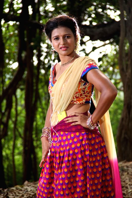 Stills from Telugu film `Kakateeyudu`.