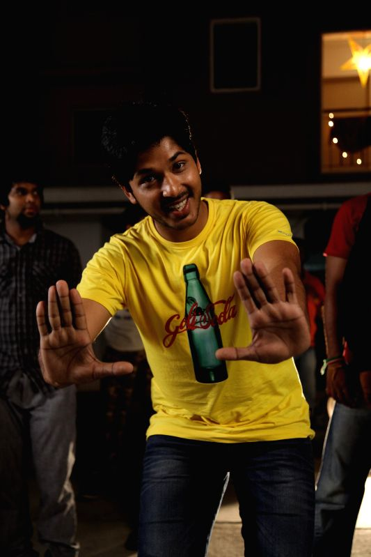 Stills from Telugu film `Moodu Mukkallo Cheppalante`.