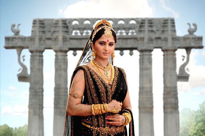 Stills from Telugu film `Rudramadevi`.