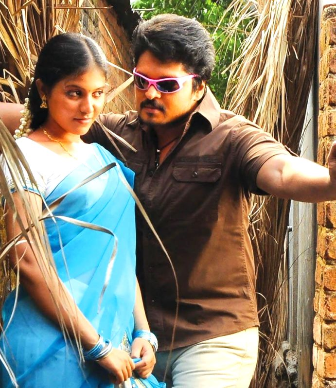 Stills from Telugu film `Simhadri Puram`.