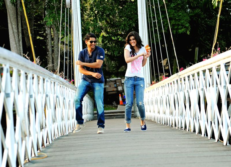 Stills from upcoming Telugu film `Dochay`.