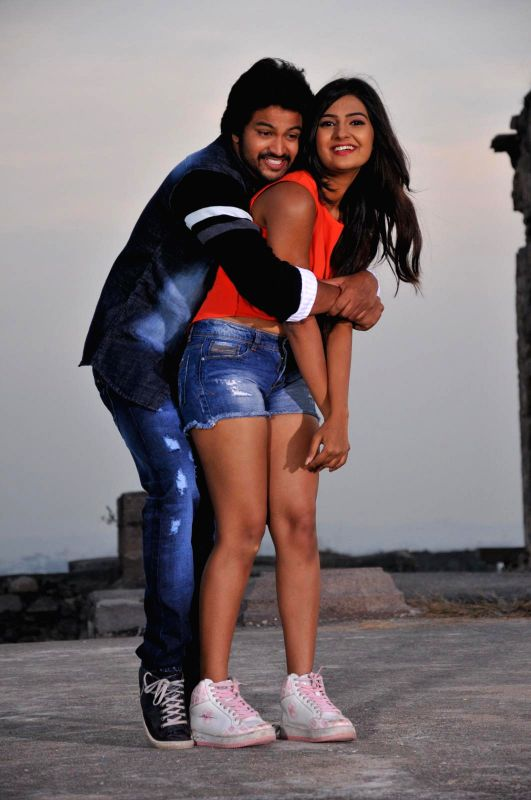 Stills from upcoming Telugu film `The Bells`.