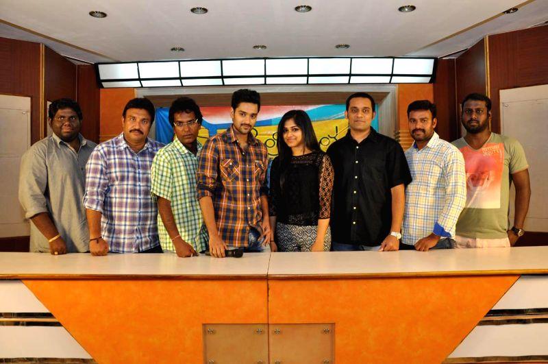 Stills of film Chakkiligintha aduio success press meet.