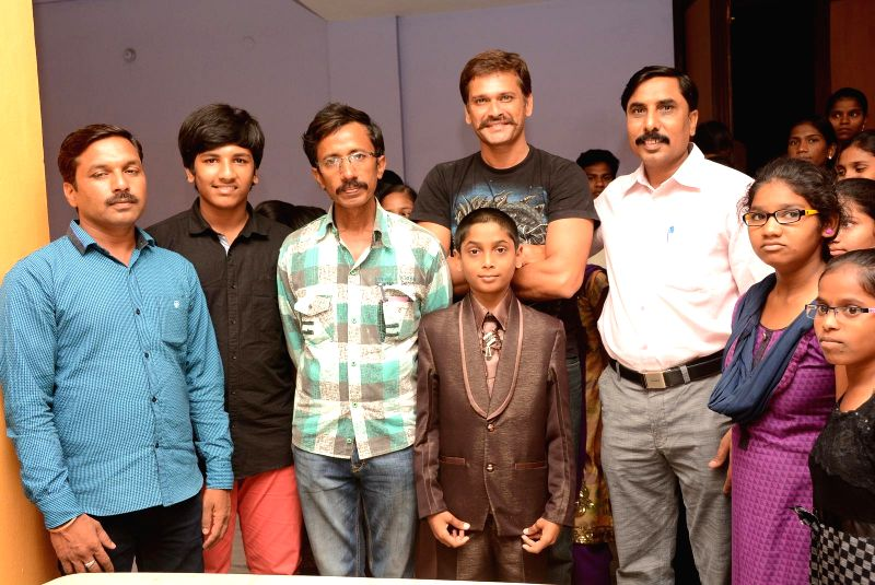 Success meet of Telugu movie Father on 25 April, 2015 in Hyderabad.