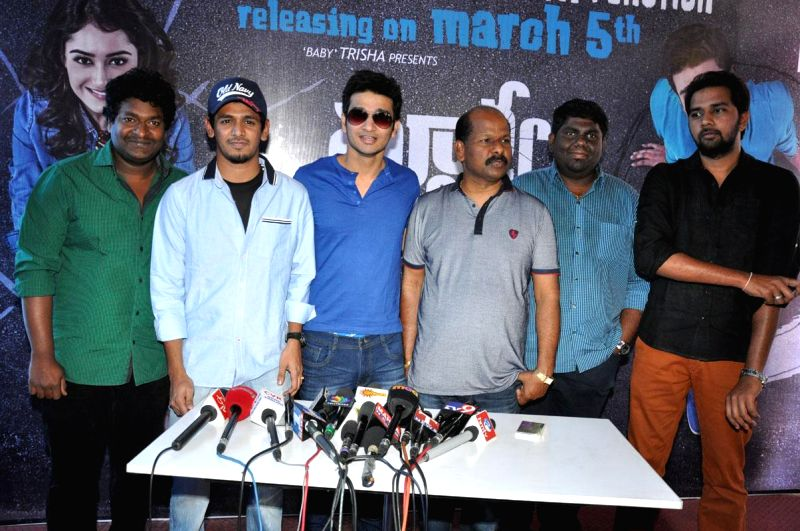 Surya V/s Surya press meet held in Hyderabad on Feb 24, 2015.