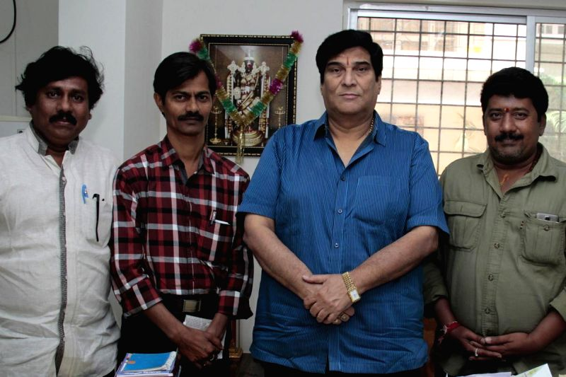 Swastik fim recording started recently at Gurukrupa Recording theater in Hyderabad.