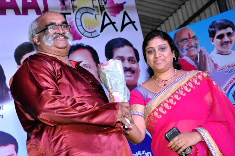 Telangana CInema Artists Association inauguration in Hyderabad on 26 April, 2015.