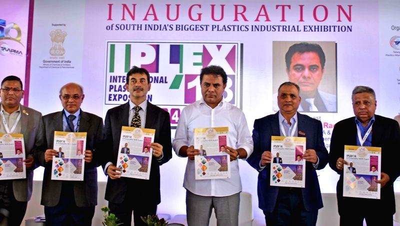 : Hyderabad: Telangana IT and Industries Minister K.T. Rama Rao during an inauguration of IPLEX 2018, in Hyderabad, on  Aug 3, 2018. (Photo: IANS).