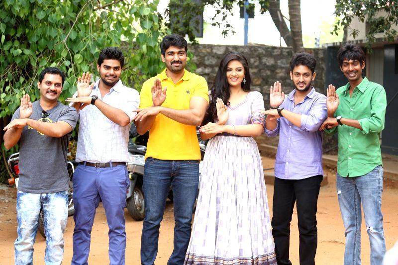 Telugu film Dhanalakshmi Talupu Tadithey teaser launch at Prasad Labs in Hyderabad.