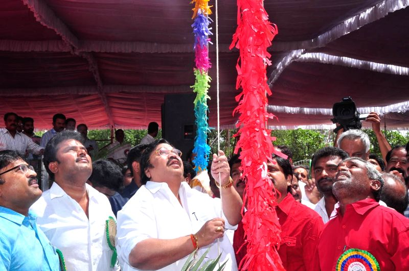 Telugu Film Federation May day celebrations in Hyderabad.