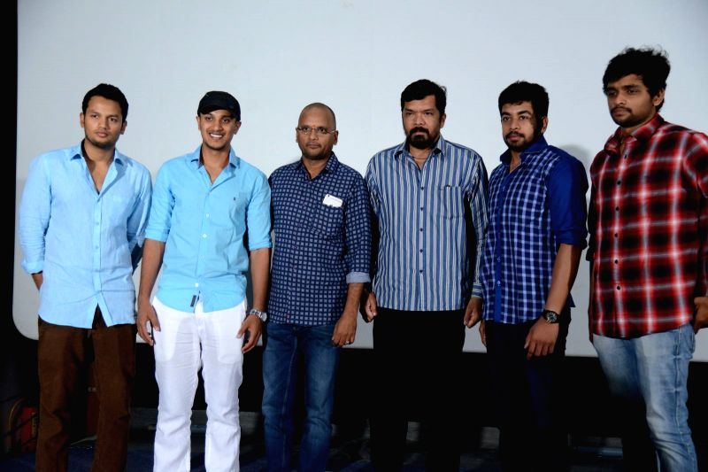 Telugu film Red Alert trailer launch in Hyderabad, actor Posani Krishna Murali launched the trailer . - Posani Krishna Murali