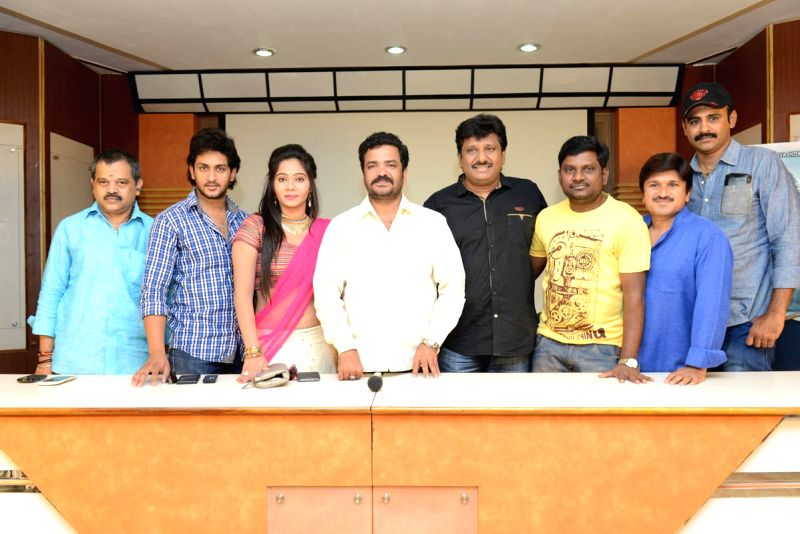 Telugu movie Aloukika Press Meet event held in Hyderabad on 22 April, 2015 (Photo; IANS)