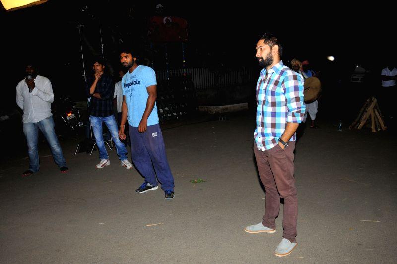 Telugu movie Dongata song shooting in Hyderabad.
