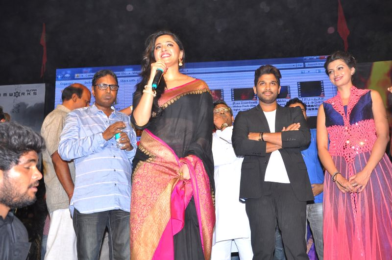 Teluvu movie Rudrama Devi audio release held at Warangal on March 22, 2015.