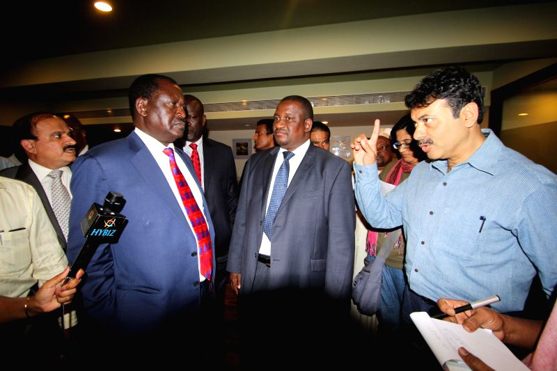The members of a Kenyan trade delegation led by former Prime Minister of Kenya Raila Amolo Odinga during a meeting organised by Federation of Indian Export Organisation in Hyderabad on Jan