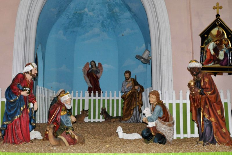 The nativity scene at a church in Hyderabad on Dec 23, 2014.