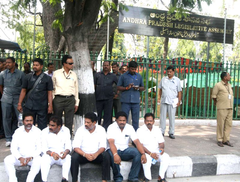 The YSR Congress Party (YSRCP) legislators who were suspended from the Andhra Pradesh assembly for three days for creating a ruckus and stalling the proceedings at the assembly premises in ...