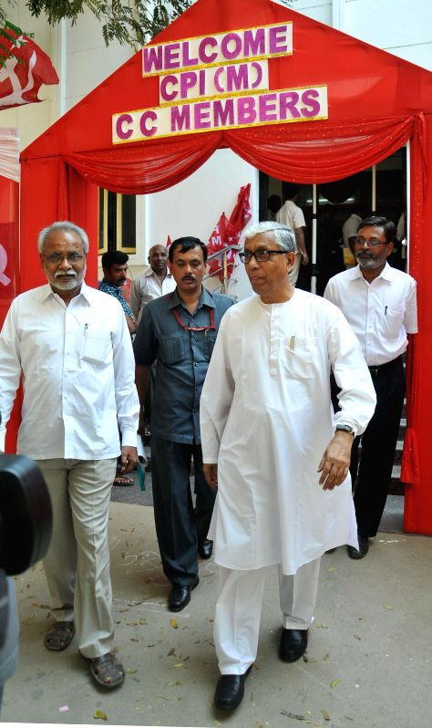 Tripura Chief Minister Manik Sarkar during a CPI(M) programme in Hyderabad, on Jan 20, 2015. - Manik Sarkar