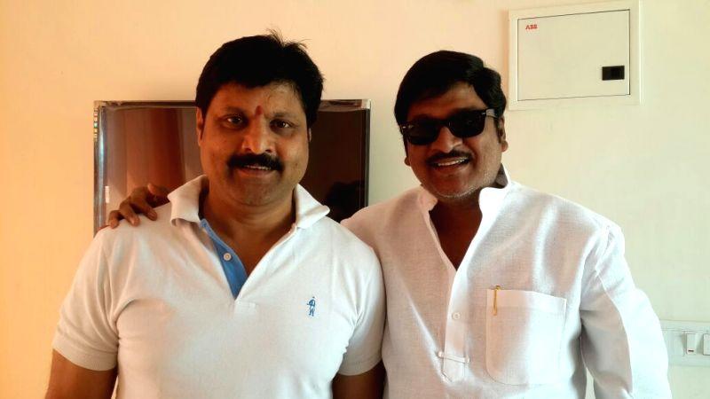 TV Artists union Secretary, TV Federation President Vijay Yadav supporting Movie artists Association elections president candidate Rajendra Prasad.