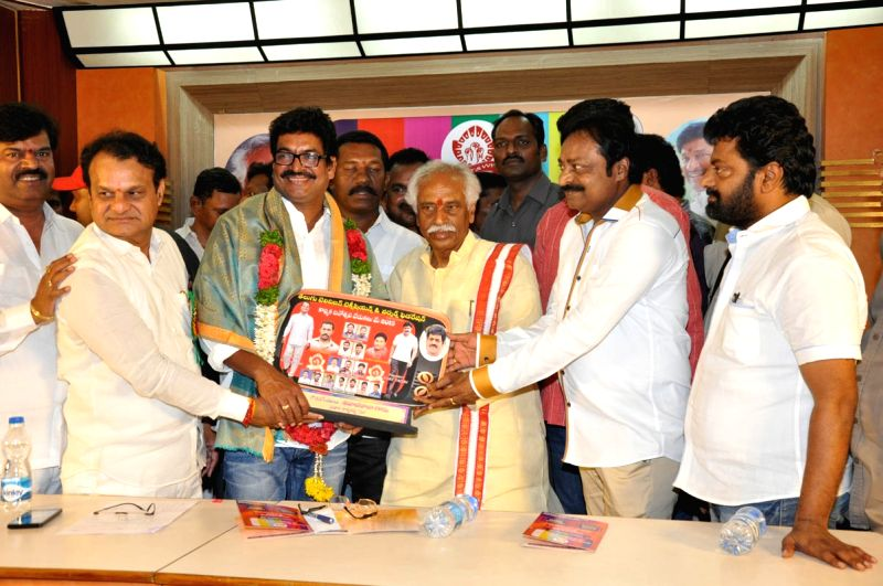 TV Federation felicitated newly elected Movie Artists Association members in Hyderabad.