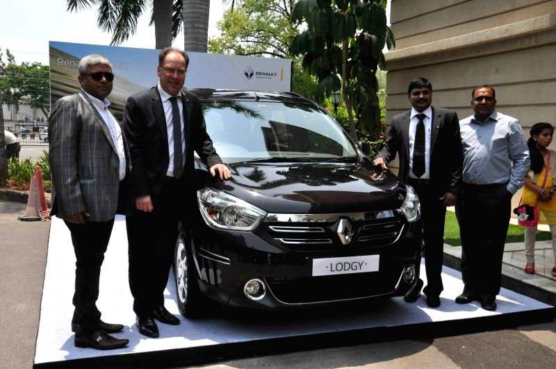 Vice President Sales and Marketing, Renault India Rafael Treguer during the launch of Renault Lodgy, a MPV, in Hyderabad on April 23, 2015.
